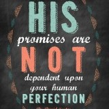 His promises are NOT dependent upon your human perfection.  -Dr.David Foster
